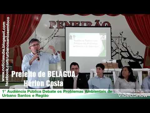 Prefeito de Belágua, Hérlon Costa, em Debate Sobre os Problemas Ambientais de Urbano Santos e Região
