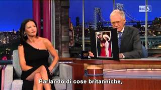 Catherine Zeta-Jones al David Letterman 11-01-2013 (sub ita)