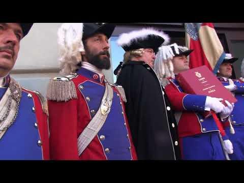 Preview video Storico Carnevale d´Ivrea 2018 Prise du drapeau