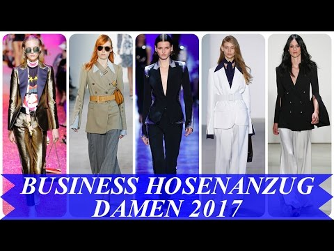 Aktuelle modetrends - business hosenanzug damen 2017
