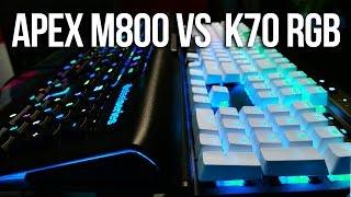 Corsair Gaming K70 vs Steelseries Apex M800 Gaming Keyboard Comparison