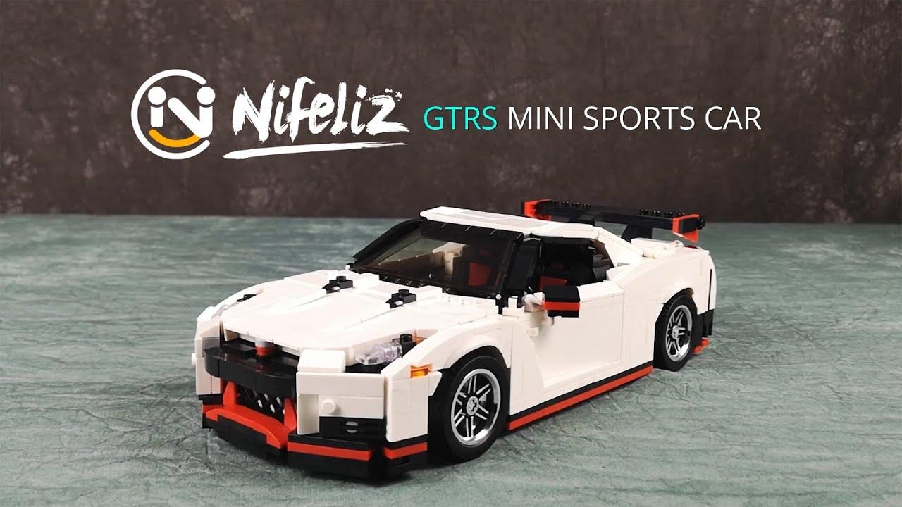 Build your own mini GTR! Nifeliz GTRS MOC Nissan Nismo GT-R +Free Instruction, Compatible with Lego
