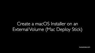 Run Workflow From An External Volume (Mac Deploy Stick)