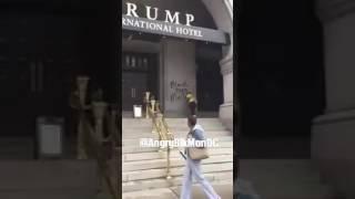 #BlackLivesMatter vandalizes Trump Hotel in DC