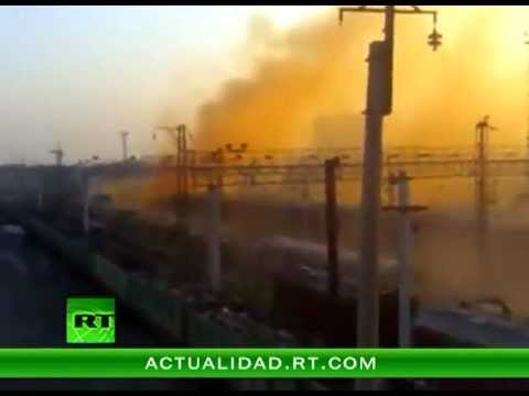 Russian Train Spill Dumps Giant Chemical Gas Cloud Over City