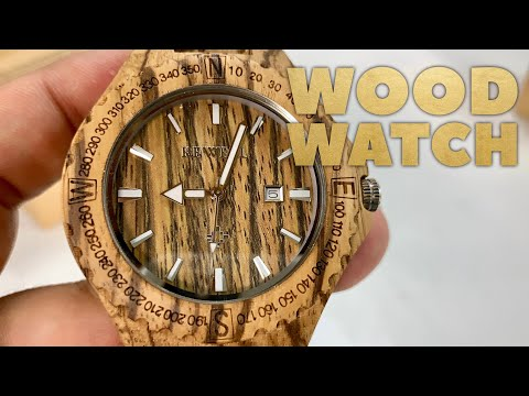 Zebra Wood Quartz Watch by BEWELL Review