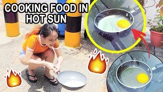 SINGAPORE IS TOO HOT!!! COOKING BREAKFAST IN THE SUN🔥🌞 | MiniMoochi