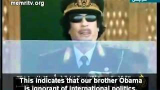 The Truth about OBAMA and Kennedy Assassination Told by Gadaffi.