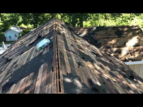 In this video we are  removing  the old 3 tab roof system. Phase 1 is removal.