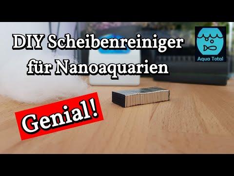 DIY Scheibenreiniger für Nano- und Aquascape Aquarien - Scheibenmagnet selber bauen
