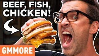Secret McDonald's Menu Item: Land, Sea, and Air Burger Taste Test
