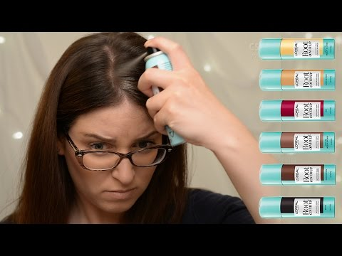 ROOT COVER UP in Dark Brown Temporary Grey Concealer Spray from L'Oreal REVIEW & DEMO