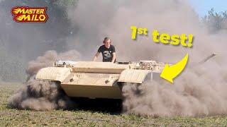 Tank Eerste Testrit na 29 jaar stilstaan!
