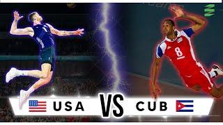 NORCECA 2015 - USA vs Cuba Men's Volleyball Highlights