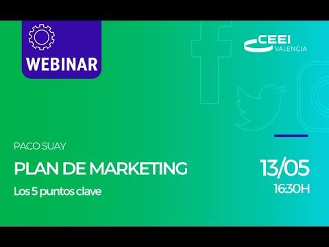 Webinar Plan de Marketing para pymes. Los 5 puntos clave