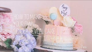 VLog 14 How To Make Your Own Gender Reveal Cake | My First Baking Class