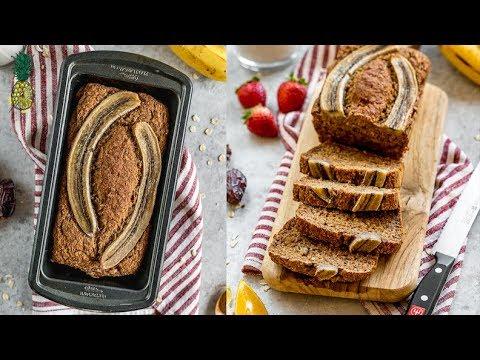 The BEST Healthy Vegan Banana Bread | GF + Refined Sugar & Oil-Free
