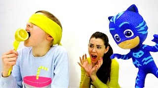 Герои в Масках: #Кэтбой и Фруктовый #ЧЕЛЛЕНДЖ 🍎 #ВызовПринят Игры для детей Видео Дети и Родители 👪
