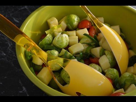 Свежий салат с брюссельской капустой