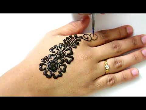 Download Simple Mehndi Design Back Hand Mehndi Designs 2018 New