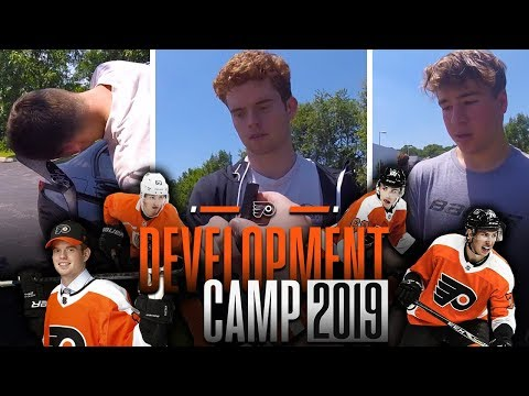 MEETING TOP PROSPECTS AND FLYERS LEGENDS | Philadelphia Flyers Development Camp 2019 Vlog