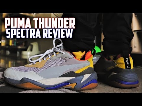 BEST $100 DAD SHOE? Puma Thunder Spectra (GREY) REVIEW and ON-FEET | SneakerTalk365