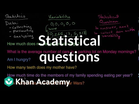 Statistical questions