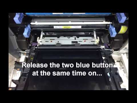 How To Remove HP Color LaserJet 4700n Transfer Belt Assembly Mp3