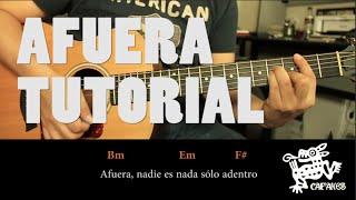 "Como Tocar ""Afuera"" De Caifanes - Tutorial Guitarra COMPLETO (HD)"