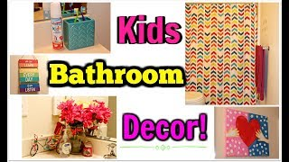 Kids Affordable Bathroom Decor - Dollar Tree, Walmart & Target!! | Kym Yvonne