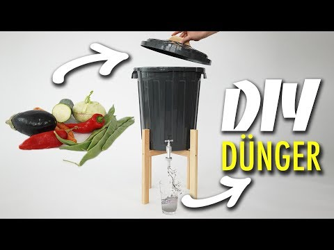 DÜNGER AUS BIOABFALL - DIY Komposteimer, Bokashi Eimer selber bauen | EASY ALEX