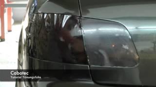 Rückleuchten folieren statt lasieren Scheinwerfer Tönungsfolie Anleitung  für Audi , VW , Mercedes