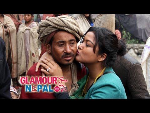 Rekha Thapa Kissing to Raute | GlamourNepal.Com