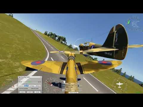 aeroflyrc7-fpv-spitfire-mk9-vs-p40e