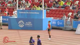 High jump women, Michelle Sng -  2015 SEA Games