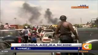 Raila Odinga entourage on the Mombasa Road