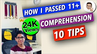 How to pass 11+ exam & my experience on 10 COMPREHENSION TIPS 11 plus exam tips | Lessonade