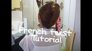 簡易法式空姐頭Easy French Twist Updo /flight Attendant Hairstyle