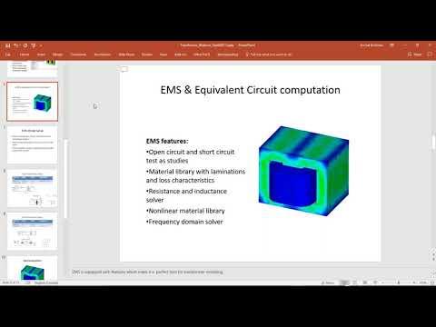 EMS Webinar: Transformer Losses Computation and Transformer Equivalent Circuit Analysis