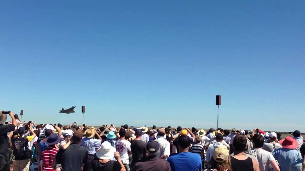 The F-22 From The Melbourne Air Show Thought It Was A Rocket