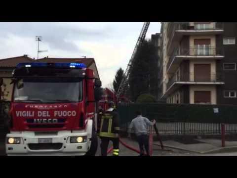 L'incendio di Vedano Olona