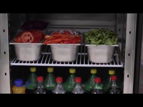 Video Armoire réfrigérée positive 1 porte GN2/1 670 Litres ATOSA