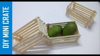 Mini Crate With Popsicle Sticks   DIY Mini Ctate   Mini Basket With Popsicle Sticks    Easy Crafts
