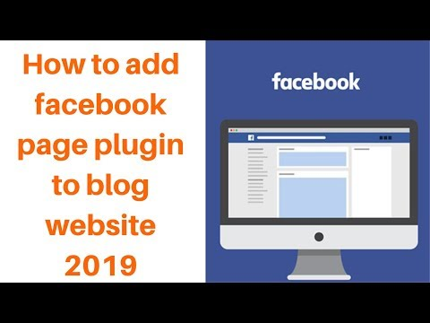 How to add facebook page plugin to blog website 2019
