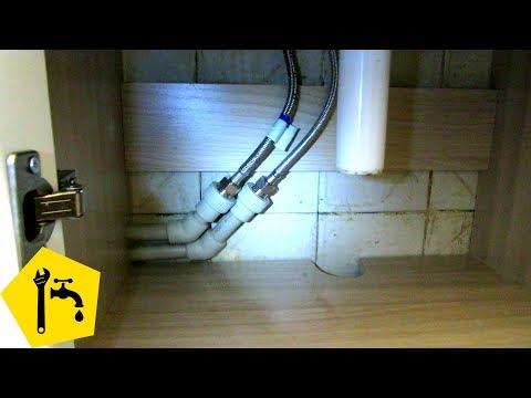 ✅ Подключение смесителя для раковины умывальника / Ремонт сантехники