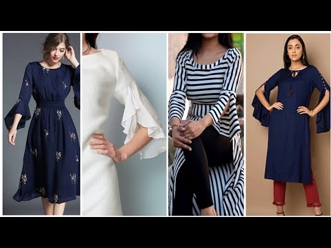 Gorgeous & trendy and useful sleeves designs 2019 summer Kurtis /frocks