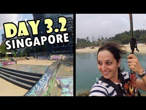 Somerset Skatepark & MEGA Zipline | Singapore VLOG 3.2