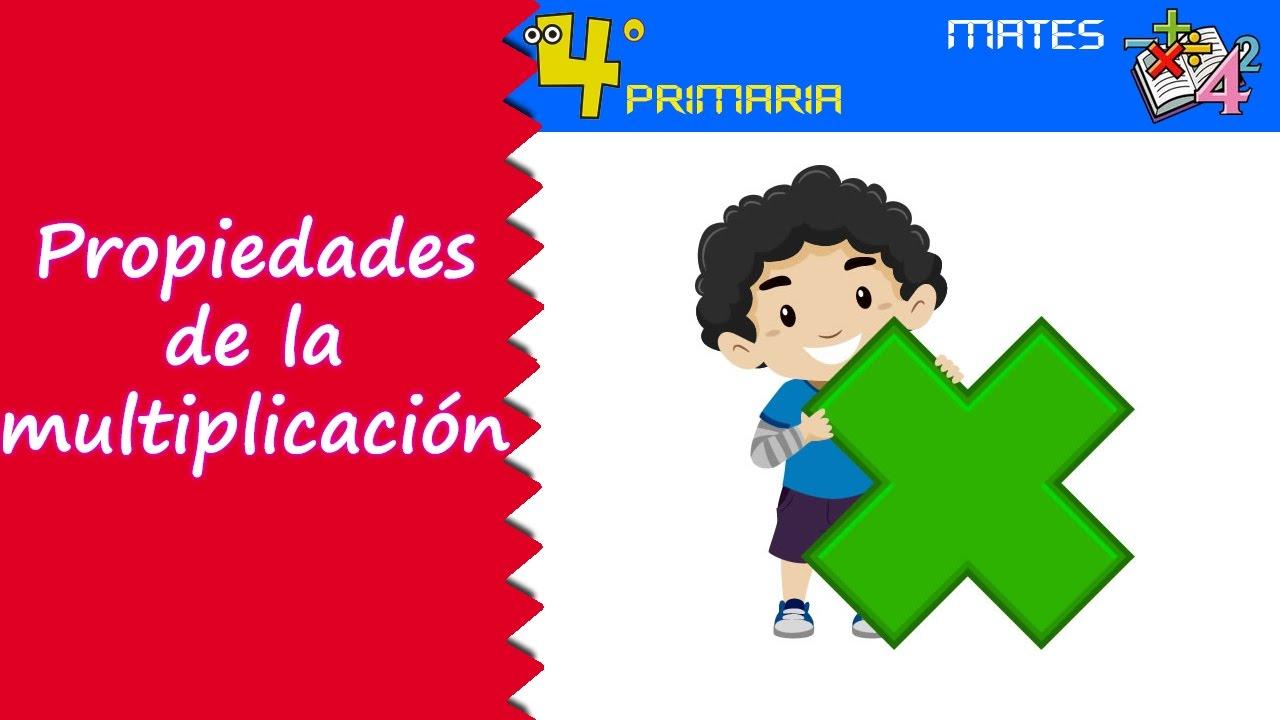 Matemáticas. 4º Primaria. Tema 2. Propiedades de la multiplicación