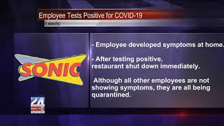 Sonic Employee Tests Positive for COVID-19