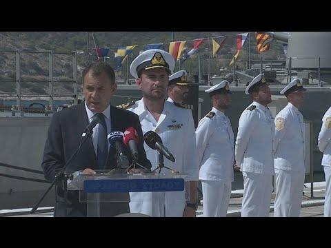 """Δήλωση του υπουργού  Άμυνας Ν Παναγιωτόπουλου στην ονοματοδοσία του πλοίου""""Υποπλοίαρχος ΚΑΡΑΘΑΝΑΣΗΣ"""""""